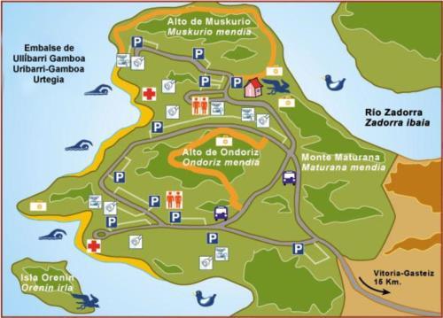 mapa parque de garaio casa rural sagasti zahar en Alava