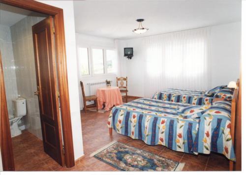 habitación doble casa rural itxas ertz en Vizcaya