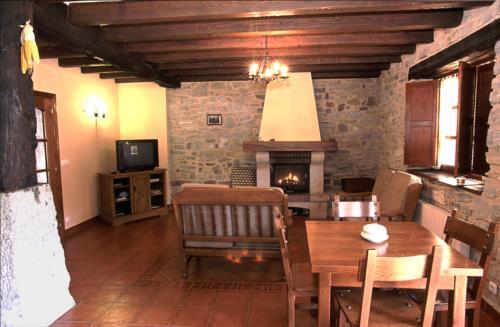 living room country house goikoetxe in Bizkaia