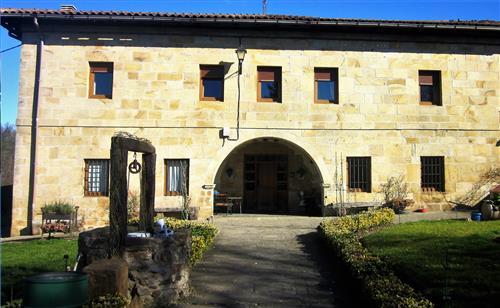 Etxebarri  farm house's facade 2 in Alava