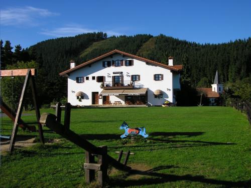 facade country house segore etxeberri in Gipuzkoa