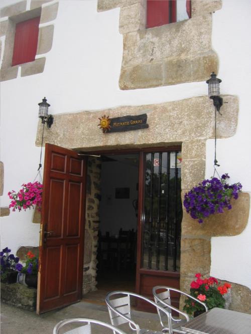 entrada casa rural Mitarte Garai en Gipuzkoa
