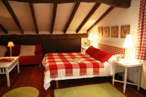 habitación doble 1 casa rural Landarte en Gipuzkoa