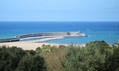 Vista a la playa de Santiago