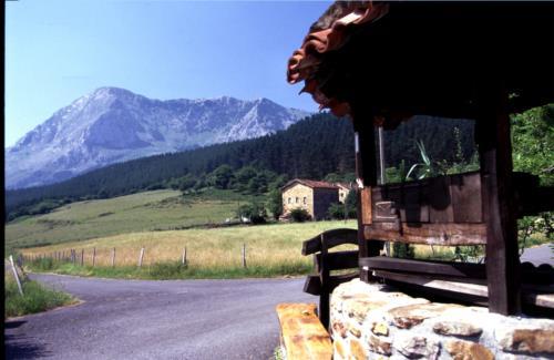 paisaje casa rural imitte en Vizcaya