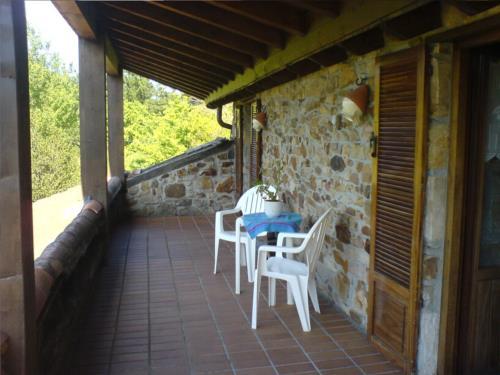 terraza casa rural imitte en Vizcaya