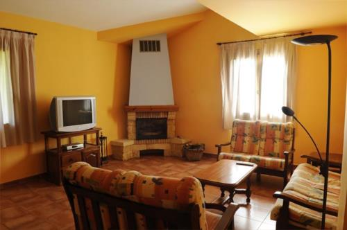 living room farm house orubxe in Bizkaia