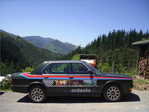 coche agroturismo Ordaola en el gran Bilbao Bizkaia