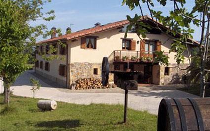 fachada agroturismo Erretegi Haundi en Gipuzkoa