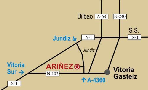 mapa agroturismo abaienea en Alava