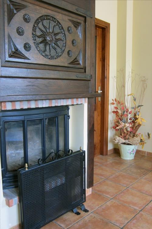 fireplace farm house abaienea in Alava