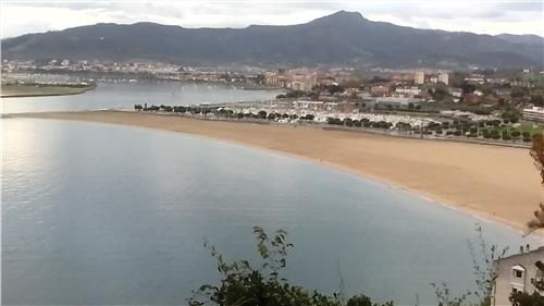Playa y casco de Hondarribia