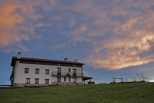 facade farm house santa klara in Gipuzkoa