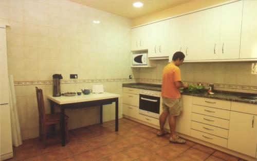 Cocina agroturismo Pastain en Gipuzkoa