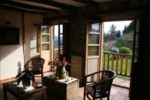 terraza casa rural ametzola en Vizcaya