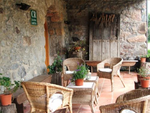 terraza 1 casa rural ametzola en Vizcaya