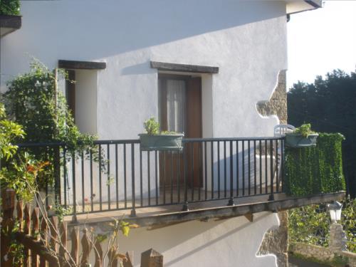 apartamentuko terraza nekazalturismoa Itulazabal Gipuzkoan