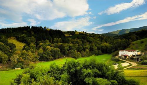 paisaje agroturismo Itulazabal en Gipuzkoa