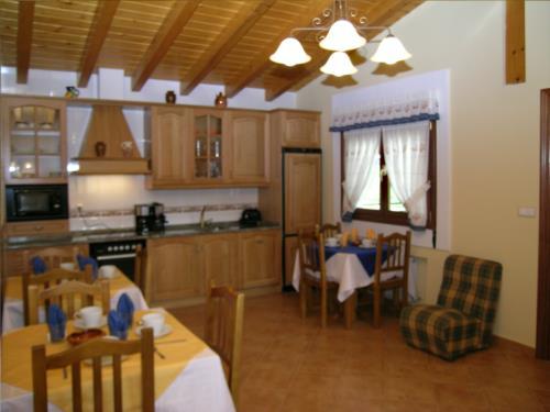 Cocina casa rural Arriortua en Bizkaia