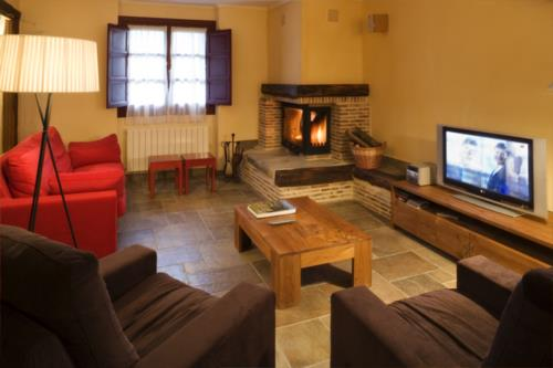 living room country house etxegorri in Bizkaia