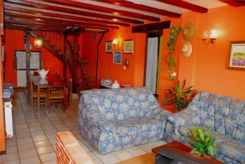 living room 1 farm house atxarmin in Alava