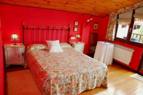 double room 1 farm house atxarmin in Alava