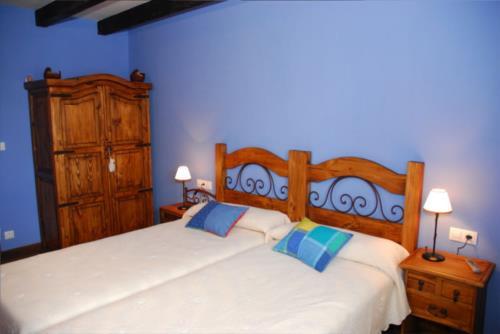 habitación doble 1 casa rural altuena en Vizcaya