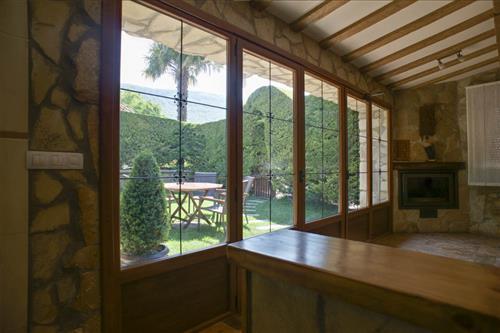 Vistas desde el salón de la casa rural Legaire Etxea