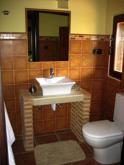 Baño 1 casa rural Pagaigoikoa en Bizkaia