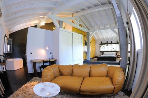 living room country house aldori in Bizkaia