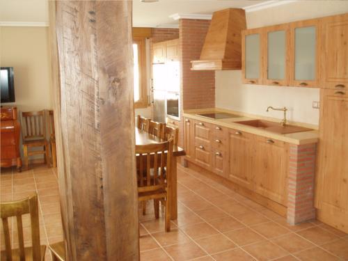 cocina casa rural Eguzkilore en Bizkaia