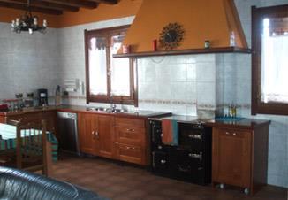 kitchen farm house Landagarre in Gipuzkoa