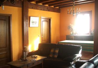 living room farm house Landagarre in Gipuzkoa
