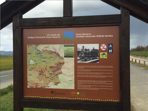 Via verde ferrocarril Agroturismo Arkaia en Alava
