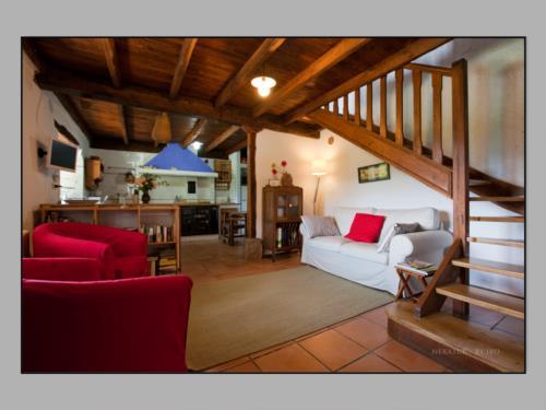 living room farm house momotegi in Gipuzkoa