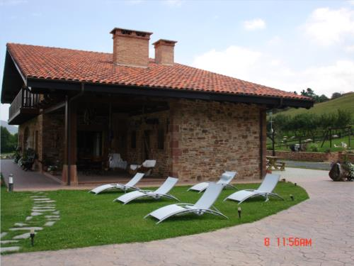 outside farm house lezamako etxe in Bizkaia