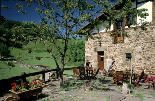 terrace farm house baztarretxe in Gipuzkoa