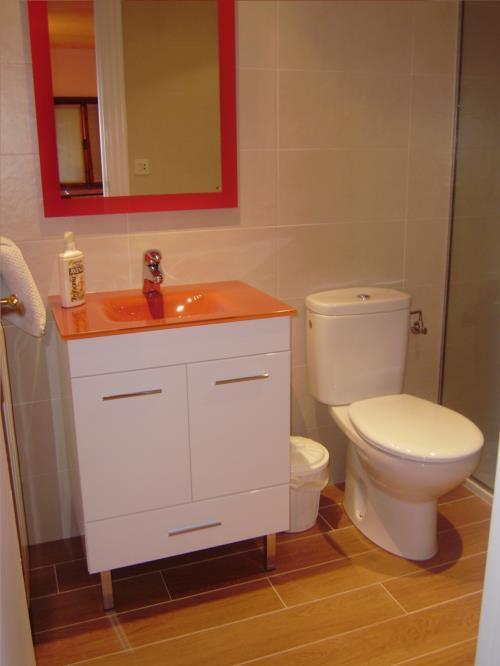 baño 1 agroturismo Aldarreta en Gipuzkoa