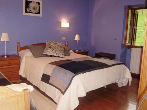 habitación doble 1 agroturismo Aldarreta en Gipuzkoa