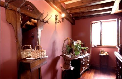 inside farm house borda in Gipuzkoa