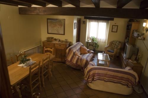 living room farm house ugarte in Gipuzkoa